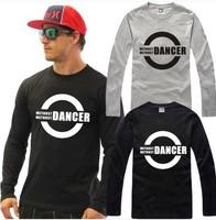 Male and female Hip hop dancer bboy waackin housejazz spring and summer women cotton long-sleeved T-shirt