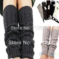 Womens Fashion Winter Knit Crochet Knitted Leg Warmers Legging free shipping #5409