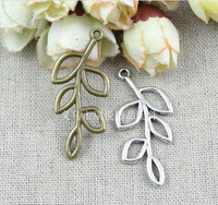 41*18.8MM antique bronze zinc alloy Retro leaves charms pendant DIY ZAKKA jewelry accessories, vintage leaf charms leaf pendant
