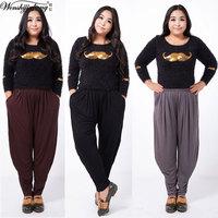 100KG!! New 2014 Women casual harem pants female trousers plus size yoga pants trousers 6XL