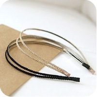 Retail  Oh0115 accessories gold double layer hair accessory hair bands 23g