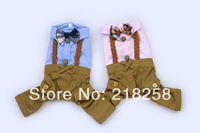 New Cute Pet Dogs Pants with Coat Free Shipping By China Post Dogs clothes 2014 New Summer Dogs Clothing