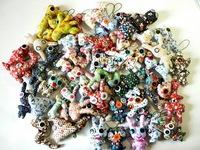 Wholesale Handmade cloth doll ,Creative plush toys ,Button doll ,Bag Pendant 20pcs /lot  Free shipping