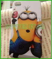 For iPhone 4s Despicable Me Minions Silicone Rubber Back Cover case For Apple iPhone 4 4G 4s Free Shipping By DHL