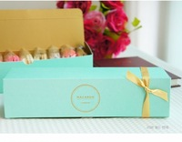 New arrival free shipping brief elegent gold stamp macaron box moon cake biscuit box
