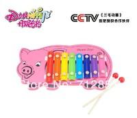 Kids Hands Beats kicking Wood Xylophone Cartoon Piggy Safe & Funny