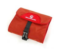 RED Portable Folding Foldable Travel Toiletry Wash Bag Makeup Cosmetic Kit Organizer Pouch Case Holder with Hook