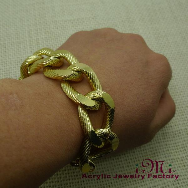 Vintage Gold Aluminium Alloy Men Bracelet 2014 Pub Bracelet 3 pieces /lot(China (Mainland))