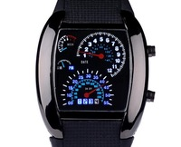 The new luxury fashion gift LED fan dashboard electronic watches free shipping