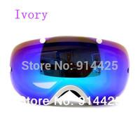 2014 Ski Goggles Double Lens Anti-Fog Big Spherical Professional Snow Glasses Unisex Multicolor Ski Goggles Put Myopia Glass
