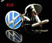 CAR ENAMEL STAINLESS STEEL SILVER ROUND OVAL WEDDING CUFFLINKS #16, 1