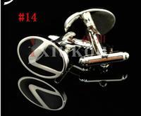 CAR ENAMEL STAINLESS STEEL SILVER ROUND OVAL WEDDING CUFFLINKS #14, 1