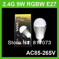 E27 2.4G Wireless 9W RGB White / Warm White LED Bulb Light RGBW Lamp