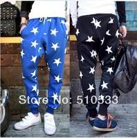 2014 NEW men printed drop crotch harem skinny sweatpants sports baggy pants mens casual hip hop outdoor silm bandana trousers