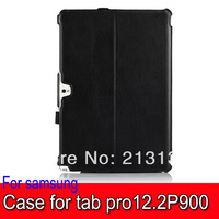 1pc Luxury Heat Setting Leather Tablet case W/stand + Handstrap for Samsung Pro 12.2 P900/ P901/P905