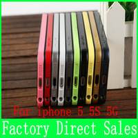 For For iphone 5 5S 5G  iphone 4 4S case Factory Direct Sales 500Pcs ultra-thin  metal frame( 0.7 mm)  mobile Phone cases