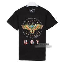 BOYLONDON Golden eagle brand men's short sleeve shirt fashion Round neck t-shirt cotton casual tshirt hiphop tshirt unisexFS083