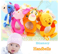 Winnie And Friends Crib Mobile Cute Baby Hand Bell Soft and Saft Kawaii Piglet/Eeyore/Winnie/Tigger Baby Toys Free shipping