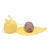 lovely Girls Boy Newborn Knit Crochet Clothes Photo Snail Prop Outfits0-24Months