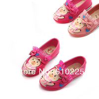 Cartoon Bear Lace Children Shoes Girls' Sneakers Princess Shoes Kids' Footwear PU Shoe