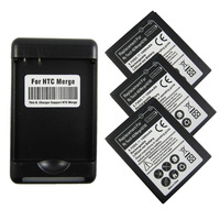 Free Shipping 3x BATTERY+Charger For T-mobile Mytouch 4g HTC Merge VERIZON Thunderbolt 4G