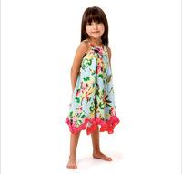 2014 newest catimini summer children clothing girls sleeveless Sling dress flowers brand high quality fashion 2-8T