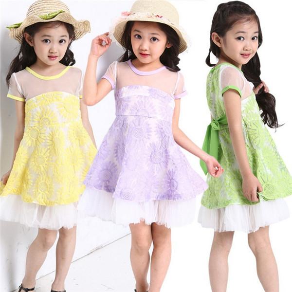 2014 Infant Baby Girls Lace Dresses Children Clothing For Autumn -Summer Kids Princess Flower Tutu Dress Lavender Cake Dress(China (Mainland))