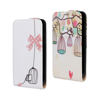 Magentical Flip Leather Case Cover For Huawei Ascend Y300 T8833 Birdcage & Bowknot