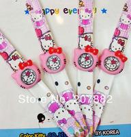 200pcs/lot! 2014 Hot Sale Hello Kitty Slap Watch Silicone Quartz Wrist Watch Cartoon Watch for Girls A3207 Free Shipping