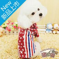 2 british style pentastar stripe shirt dog clothes pet clothing teddy yorkshire summer