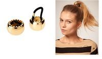 Quality 6pcs/lot DIY Sawtooth Hair Band Horsetail Buckle Metallic Golden/Black Hair Ring Headwear