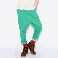 Thos days male costume HARAJUKU 2014 candy color trousers k215 p70