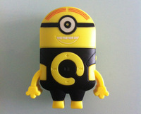 Despicable me 2 minion mp3 player with one eye/two eyes support 512MB-8GB memory card wholesale 100pcs DHL free shipping