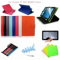 "Universal 8inch Magic Leather Stand Case Cover +Stylus Pen+Free FilmFor Nextbook 8"" EFun NEXT8P12 Tablet"