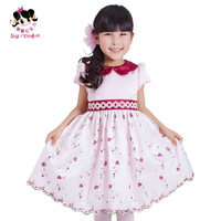 Princess 2014 female child spring flower girl child dress short-sleeve dress puff skirt  wedding party dress
