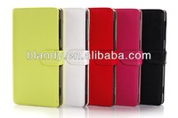1pcs/lot free shipping Skin imitation of South Korea Leather case card holder case for Sony Xperia Z1 L39h