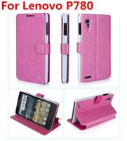 2014 New Fashion PU Case for Lenovo P780 Leather PU Case Lenovo P780 Quad core android phone Case Free Shipping