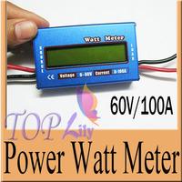 Digital Battery Checker Watt Meter Power Analyzer Balance LCD Amps Amper Testing Balancer Servo 60V/100A Test Program