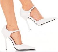 Superfine white patent leather high heels sexy high heels 12CM