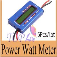 5Pcs/Lot! RC Wattmeter Watt Meter Digital LCD 60V/100A DC Voltage Current Power Balancer Battery Analyze Checker Monitor Testing