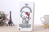 Hello Kitty Girls Case Back Covers Cartton Case For Samsung Galaxy Note2 II Silicone Case free screen protector TEP-3192