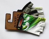 2014 New Fashion Lycra Men Women Half Finger ROAD/MT Bike Cycling Gloves Green Blue One Size High Quality