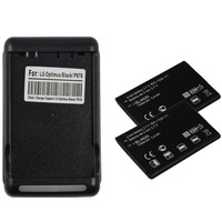 Free shipping 2 New BATTERY 1500MAH+CHARGER FOR LG CONNECT 4G MARQUEE LS855 OPTIMUS BLACK P970