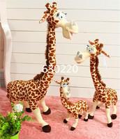 High quality Madagascar Melmen Toys giant stuffed Animal Plush 75cm cute giraffe Toys for children Free shipping