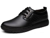New 2014 Spring Brand Fashion Designer Casual Cow Leather Men's Shoes Flats,shoes Men Wholesale R1492