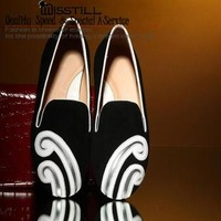 Spring 2014 new counters quality shoes retro Jixiang Yun crude quality cow leather high-heeled leather shoes tendon at the end