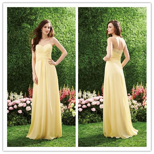 Compare bright yellow wedding dress
