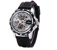 In 2014 the new mechanical military watches, men's fashion silicone luxury sport watches, Winner brand watch