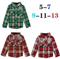 Children's clothing male child handsome plaid shirt spring male child long-sleeve shirt  free shipping