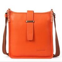 2014 first layer of cowhide thick soft real leather vintage design block men messenger bag genuine leather man bag 8030